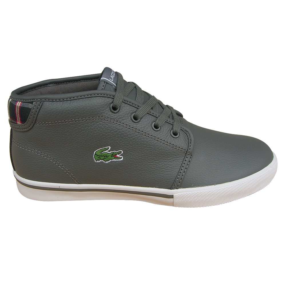 lacoste ampthill lup spm leder sneaker schuhe herren schwarz und grau ebay. Black Bedroom Furniture Sets. Home Design Ideas
